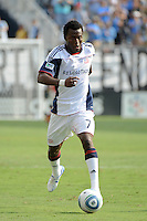 Kenny Mansally (7) of the New England Revolution. The Philadelphia Union and the New England Revolution  played to a 1-1 tie during a Major League Soccer (MLS) match at PPL Park in Chester, PA, on July 31, 2010.