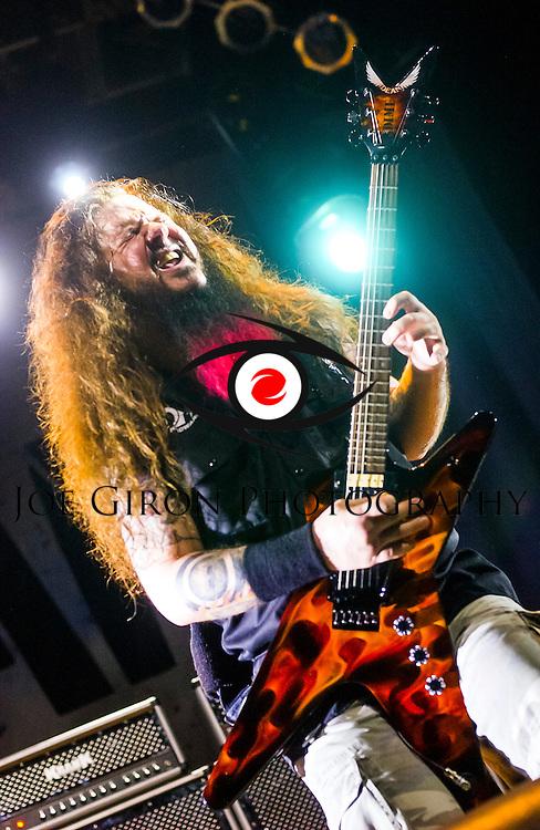 Live photographs of Damageplan guitarist, Dimebag Darrell