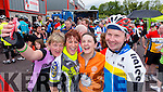 Sheila McCarthy, Castleisland, Caroline Martin, Castleisland, Alisha O'Leary, Castleisland and Mark Rael, Lixnaw in Kenmare at the Ring of Kerry cycle on Saturday.
