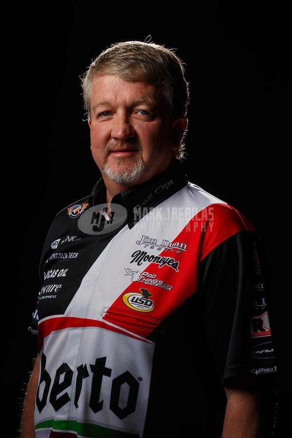 Feb 10, 2016; Pomona, CA, USA; NHRA funny car driver John Hale poses for a portrait during media day at Auto Club Raceway at Pomona. Mandatory Credit: Mark J. Rebilas-USA TODAY Sports