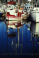 Fishing boats stationed in Noyo Harbor, Fort Bragg California