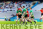 Kieran Courtney Glenbeigh Glencar v Aidan Girvan Rock Saint Patricks in the Junior Football All Ireland Final in Croke Park on Sunday.