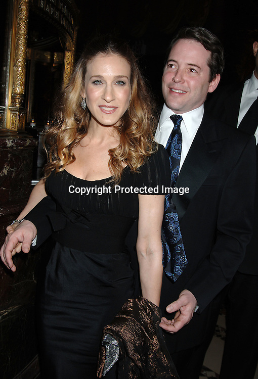 Sarah Jessica Parker and Matthew Broderick..at The American Theatre Wing's Annual Spring Gala honoring Matthew Broderick and Nathan Lane on ..April 10, 2006 at Cipriani 42nd Street. ..Robin Platzer, Twin Images