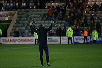Wycombe manager Gareth Ainsworth gives the fans the thumbs up at full time of the Sky Bet League 2 match between Plymouth Argyle and Wycombe Wanderers at Home Park, Plymouth, England on 26 December 2016. Photo by Mark  Hawkins / PRiME Media Images.
