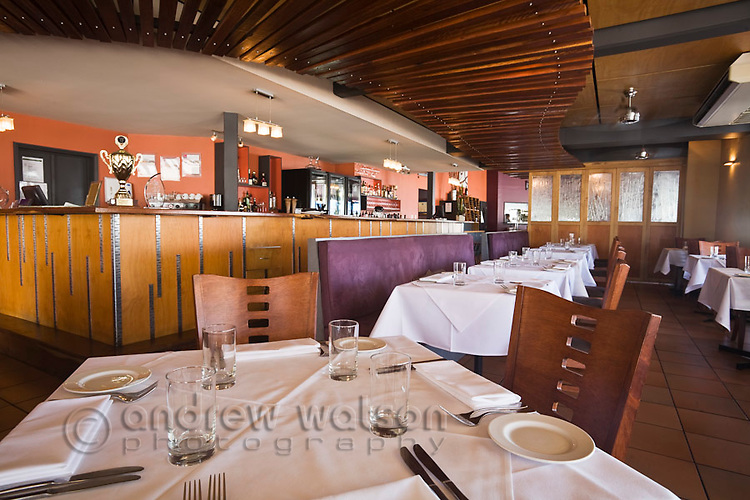 Interior of Ochre Restaurant.  Cairns, Queensland, Australia