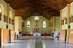 Taveuni, Fiji; an interior view of the Wairiki Catholic Mission