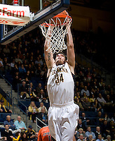 Robert Thurman of California dunks the ball during the game against Oregon State Beavers at Haas Pavilion in Berkeley, California on January 31st, 2013.  California defeated Oregon State, 71-68.