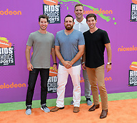 Cast of Dude Perfect at Nickelodeon's Kids' Choice Sports 2017 at UCLA's Pauley Pavilion. Los Angeles, USA 13 July  2017<br /> Picture: Paul Smith/Featureflash/SilverHub 0208 004 5359 sales@silverhubmedia.com