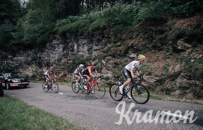 Mikel Nieve (ESP/SKY) &amp; co up the Mur de P&eacute;gu&egrave;re (Cat1/1375m/9.3km/7.9%)<br /> <br /> 104th Tour de France 2017<br /> Stage 13 - Saint-Girons &rsaquo; Foix (100km)