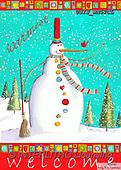 Ingrid, CHRISTMAS SANTA, SNOWMAN, WEIHNACHTSMÄNNER, SCHNEEMÄNNER, PAPÁ NOEL, MUÑECOS DE NIEVE, paintings+++++,USISWN52CL,#X#