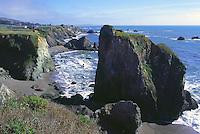 Rugged Coastline along Pacific West Coast in Sonoma Coast State Park, near Jenner, California, USA