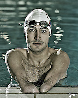 Ahmed Kelly (AUS)<br /> Paralympic Portraits - Swimmer <br /> Melbourne MSAC , Victoria 2012<br /> London 2012 Paralympic Games<br /> &copy; Sport the library / Jeff Crow