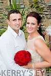 Michelle Naughton, Rangue, Killarney daughter of James and Marie, and Damian O'Connor, Cooleanig, Beaufort, son of John Paul and Helen, who were married in the Chapel of the West, Las Vegas on the 7th July and held their reception in the Manor Inn, Killorglin on Saturday, the couple will reside in London