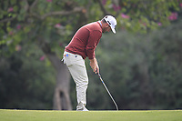 Casey O'Toole (USA) on the 6th green during Round 1 of the UBS Hong Kong Open, at Hong Kong golf club, Fanling, Hong Kong. 23/11/2017<br /> Picture: Golffile | Thos Caffrey<br /> <br /> <br /> All photo usage must carry mandatory copyright credit     (&copy; Golffile | Thos Caffrey)