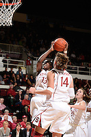 STANFORD, CA - NOVEMBER 26: Chiney Ogwumike of Stanford women's basketball drives to the hoop in a game against South Carolina on November 26, 2010 at Maples Pavilion in Stanford, California.  Stanford topped South Carolina, 70-32.