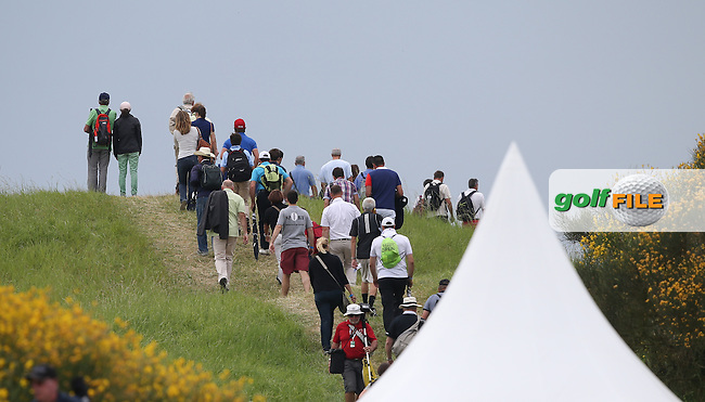 Spectators walking over the slopes down the 13th during Round Two of the Alstom Open de France from Le Golf National, Guyancourt, Versailles, France. Picture:  David Lloyd / www.golffile.ie