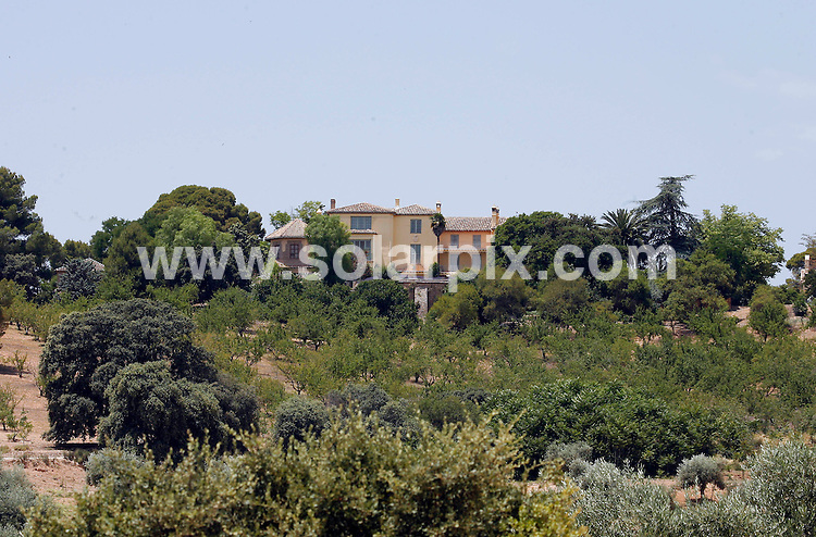 **ALL ROUND EXCLUSIVE PICTURES FROM SOLARPIX.COM**.Prince Charles & Camilla are staying at what has been described as one of the most beautiful fincas in Spain in Illora, 30 kilometres from Granada. It is owned by Lord Douro, 96-year-old Arthur Wellsley, the 8th Duke of Wellington, who is a personal friend of Prince Charles. The two titles and the finca were granted to the first Duke of Wellington and his descendants in perpetuity for helping the Spanish to kick Napoleon's troops out of Spain in what is known as the Peninsular War in British history and the War of Liberation here..The Royal visit to Spain is part of what the British press are calling a Spring tour and the couple will also visit Portugal and Morocco before they head for home on April 6th..This pic: GVS:Of the Duke of Wellingtons estate -Dehesa Baja estate now owned by the Wellesley family near Granada in Spain where Prince Charles & Camilla are staying....JOB REF: 13064 AB1       DATE:01.04.2010.