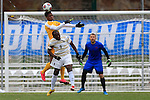 KANSAS CITY, MO - DECEMBER 03:  Elma N'for (9) of Wingate University and Illal Osumanu (28) of the University of Charleston battle for the ball during the Division II Men's Soccer Championship held at Children's Mercy Victory Field at Swope Soccer Village on December 03, 2016 in Kansas City, Missouri. Wingate beat Charleston 2-0 to win the National Championship. (Photo by Jack Dempsey/NCAA Photos via Getty Images)