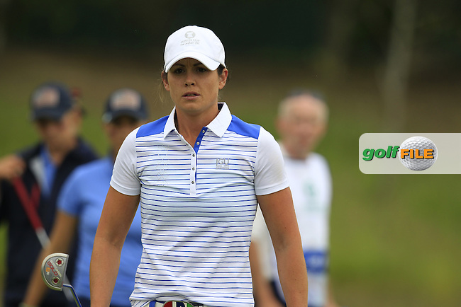 Maria Dunne during the Friday morning foursomes at the 2016 Curtis cup from Dun Laoghaire Golf Club, Ballyman Rd, Enniskerry, Co. Wicklow, Ireland. 10/06/2016.<br /> Picture Fran Caffrey / Golffile.ie<br /> <br /> All photo usage must carry mandatory copyright credit (&copy; Golffile | Fran Caffrey)
