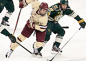 Michael Matheson (BC - 5), Nick Luukko (UVM - 25) - The Boston College Eagles defeated the visiting University of Vermont Catamounts to sweep their quarterfinal matchup on Saturday, March 16, 2013, at Kelley Rink in Conte Forum in Chestnut Hill, Massachusetts.