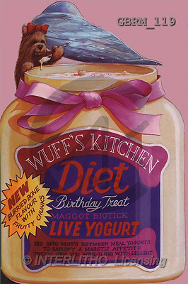 Roger, CUTE ANIMALS, paintings, barker's -wuff's kitchen1(GBRM119,#AC#) illustrations, pinturas ,everyday