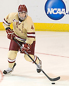 Tommy Cross (BC - 4) - The Boston College Eagles defeated the Air Force Academy Falcons 2-0 in their NCAA Northeast Regional semi-final matchup on Saturday, March 24, 2012, at the DCU Center in Worcester, Massachusetts.