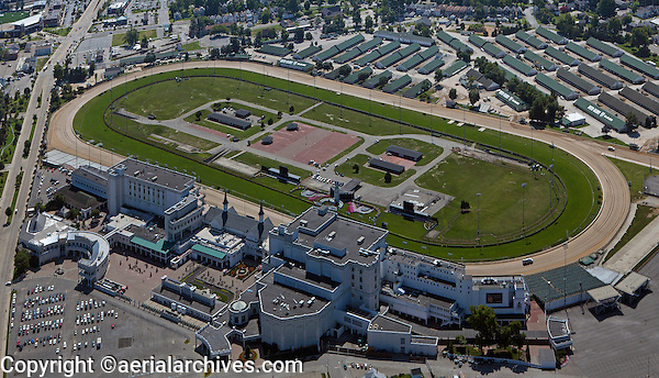 Aerial Photograph Churchill Downs Thoroughbred Racetrack