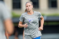 Allston, MA - Sunday July 31, 2016: Julie King prior to a regular season National Women's Soccer League (NWSL) match between the Boston Breakers and the Orlando Pride at Jordan Field.