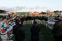 Ealing Trailfinders RFC have a post match debrief during the Championship Cup Quarter Final match between Ealing Trailfinders and Nottingham Rugby at Castle Bar , West Ealing , England  on 2 February 2019. Photo by Carlton Myrie / PRiME Media Images.
