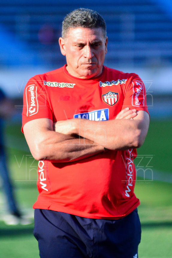 BARRANQUIILLA - COLOMBIA, 16-01-2019: Luis Fernando Suarez durante entrenamiento del Atlético Junior para iniciar la Liga Águila I 2019 jugado en el estadio Metropolitano Roberto Meléndez de la ciudad de Barranquilla. / Luis Fernando Suarez during a traning session of Atletico Junior prior of the Aguila League I 2019 played at Metropolitano Roberto Melendez stadium in Barranquilla city.  Photo: VizzorImage/ Alfonso Cervantes / Cont