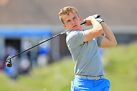 Robert Moran (Castle) on the 5th tee during Round 1 of the The Amateur Championship 2019 at The Island Golf Club, Co. Dublin on Monday 17th June 2019.<br /> Picture:  Thos Caffrey / Golffile<br /> <br /> All photo usage must carry mandatory copyright credit (© Golffile | Thos Caffrey)