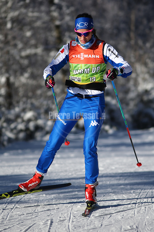 Cross Country Ski World Cup 2018 FIS in Dobbiaco, Toblach, on December 16, 2017; Ladies 10 Km Interval Start Free technique ; Ilaria Debertolis (ITA)<br /> &copy; Pierre Teyssot / Pentaphoto