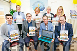 At the Official open day and launch of website and brochure at Recovery Haven on Friday pictured front l-r Aidan O'Mahony, Dr Eddie Murphy, Dick Spring, Professor Edmond Harty from Dairymaster, Back Sgt. Eileen O'Sullivan, Marian Barnes,  Eileen Comerford,  Siobhan McSweeney (Recovery Haven)