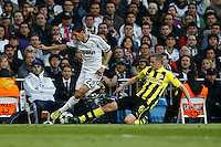 30.04.2012 SPAIN -  Champions League 12/13 Matchday 12th  match played between Real Madrid CF vs  Ballspiel-Verein Borussia 09 Dortmund at Santiago Bernabeu stadium. The picture  Angel di Maria (Argentine midfielder of Real Madrid)