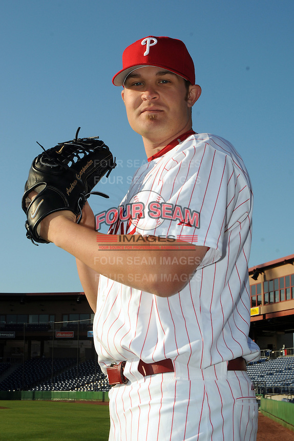 Feb 20, 2009; Clearwater, FL, USA; The Philadelphia Phillies pitcher Andrew Carpenter (63) during photoday at Bright House Field. Mandatory Credit: Tomasso De Rosa/ Four Seam Images