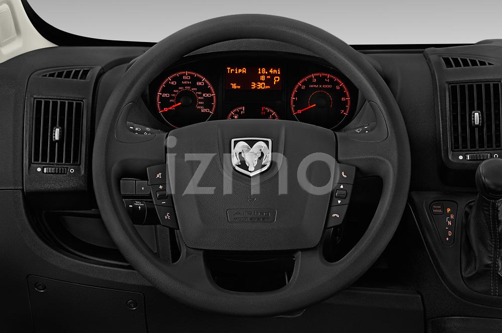 Car pictures of steering wheel view of a 2019 Ram Promaster Base 3 Door Cargo Van