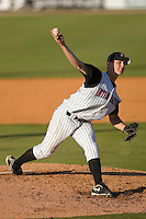 Relief pitcher Nate Jones #32 of the Kannapolis Intimidators in action versus the Asheville Tourists at Fieldcrest Cannon Stadium April 12, 2009 in Kannapolis, North Carolina. (Photo by Brian Westerholt / Four Seam Images)