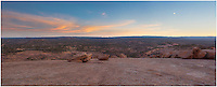 This panorama image of the Texas Hill Country comes from the top of Enchanted Rock at Enchanted Rock State Park.
