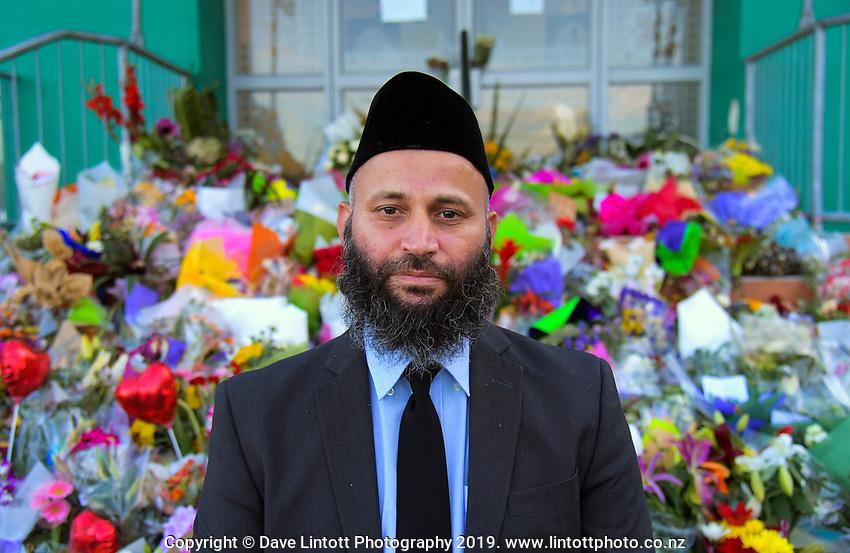 International Muslim Association of New Zealand president Tahir Nawaz. Wellington Islamic Centre in Wellington, New Zealand on Tuesday, 19 March 2019. Photo: Dave Lintott / lintottphoto.co.nz