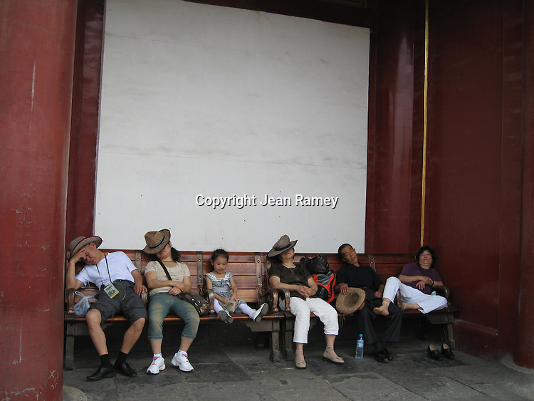 """Tired Tourists"" - Forbidden Palace, Beijing, China"