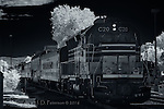 Engine C20, Royal Gorge Route (Infrared) ©2016 James D Peterson.  This scenic railroad is a remnant of the old Santa Fe line.  This train is ready to depart the station in Canon City, Colorado.