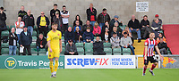 Fleetwood Town fans watch their team in action<br /> <br /> Photographer Chris Vaughan/CameraSport<br /> <br /> The EFL Sky Bet League One - Lincoln City v Fleetwood Town - Saturday 31st August 2019 - Sincil Bank - Lincoln<br /> <br /> World Copyright © 2019 CameraSport. All rights reserved. 43 Linden Ave. Countesthorpe. Leicester. England. LE8 5PG - Tel: +44 (0) 116 277 4147 - admin@camerasport.com - www.camerasport.com