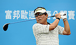 TAIPEI, TAIWAN - NOVEMBER 19:  Youn-soo Choi of South Korea tees off on the 10th hole during day two of the Fubon Senior Open at Miramar Golf & Country Club on November 19, 2011 in Taipei, Taiwan. Photo by Victor Fraile / The Power of Sport Images