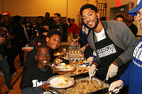 NEW YORK, NY - NOVEMBER 23, 2016 Derrick Rose attends the LaLa & Friends Educational Alliance Boys & Girls Club Thanksgiving Event, November 23, 2016 in New York City. Photo Credit: Walik Goshorn / Mediapunch
