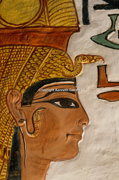 Egypt's Valley of the kings; Tomb of Queen Nefertari, wife of Ramses II (the Great), New Kingdom, Valley of the Queens, Egypt