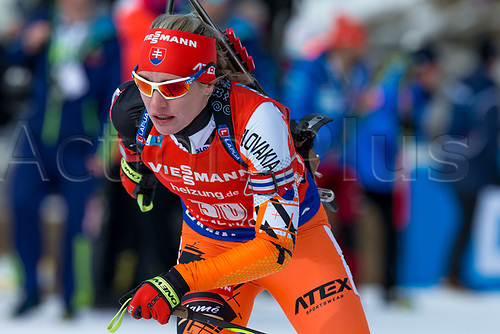 March 19th 2017, Oslo, Norway; BMW IBU World Cup Biathlon;  Paulina Fialkova of Slovakia participates in the women 12.5km mass start at the IBU World Cup Biathlon in Holmenkollen Oslo, Norway