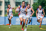 Swire Properties Team warms up during the Swire Properties Touch Tournament at King's Park Sports Ground on 13th September 2014 in Hong Kong, China . Photo by Victor Fraile / Power Sport Images