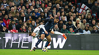 Mesut Ozil (Arsenal) of Germany fouls Ruben Loftus-Cheek (Crystal Palace on loan from Chelsea) of England during the International Friendly match between England and Germany at Wembley Stadium, London, England on 10 November 2017. Photo by Andy Rowland.
