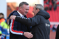 Stoke City Manager Michael O'Neil and Charlton Manager Lee Bowyer before the game.  Stoke City vs Charlton Athletic, Sky Bet EFL Championship Football at the bet365 Stadium on 8th February 2020