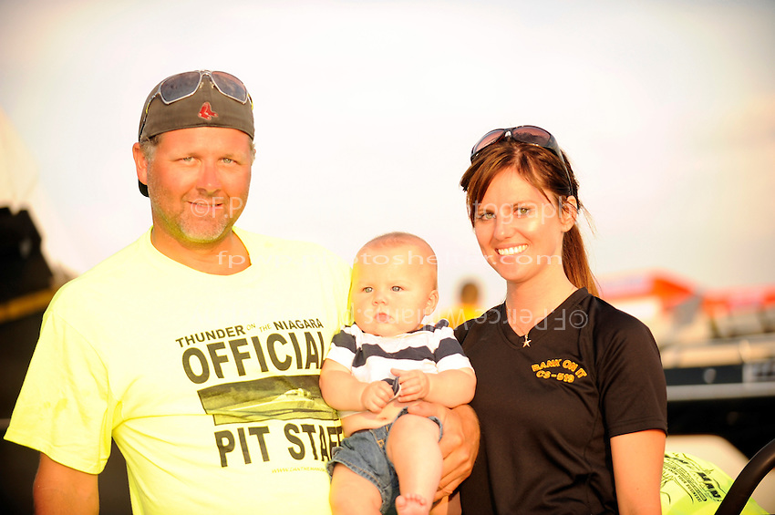 Kent Henderson, Cinnamon Hofhine & son Kolin.
